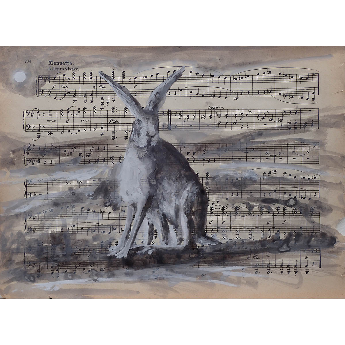 Seated hare 2017