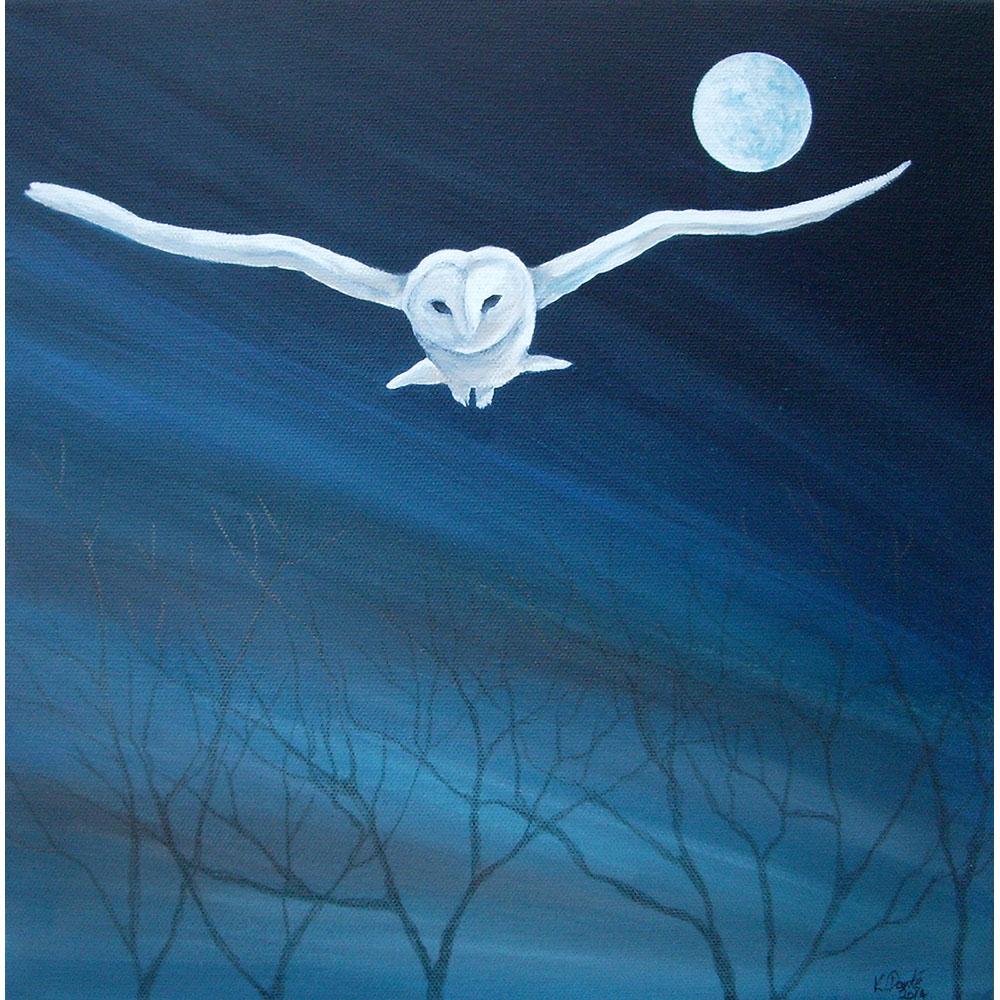 Blue spectral owl