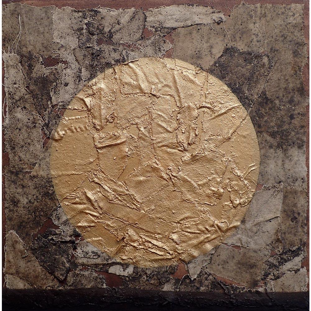 Buried canvas, gold sun